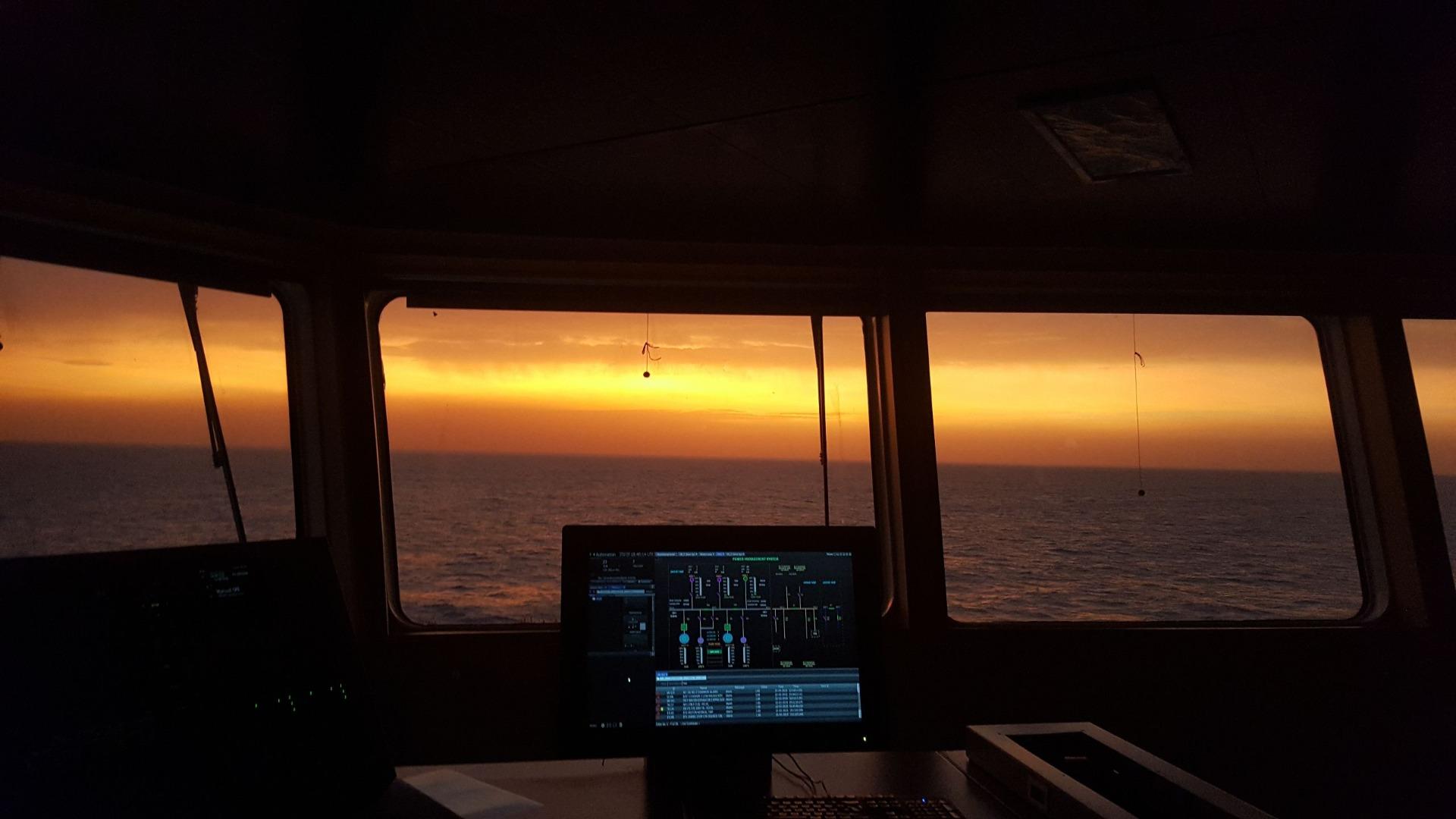Nice sunrise at sea